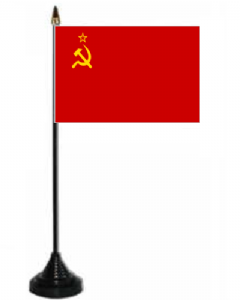 USSR Desk / Table Flag with plastic stand and base.